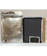iPad Pro 12.9 Case w/ Pencil Holder Luvvitt Black Rubber Grip Texture Li... - $12.22