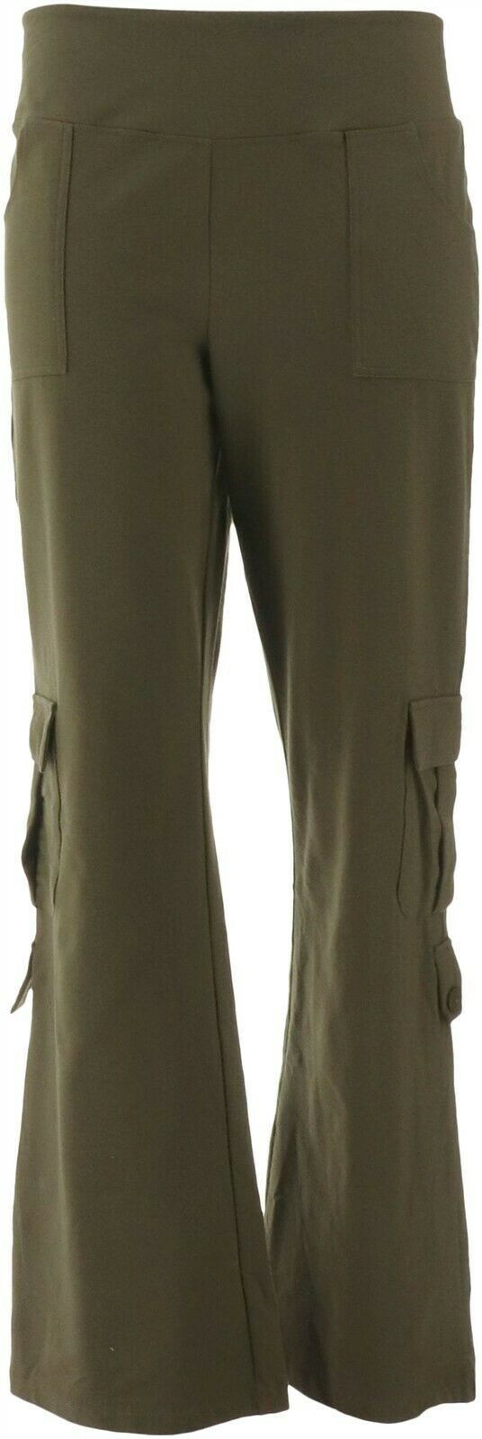 Primary image for Wicked Women Control Cargo Bootcut Pants Basil 2X NEW A301338