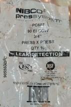 Nibco Press System PC607 90 Elbow 3/4 Inch Press X Press 9055600PC 10 Per Bag image 2