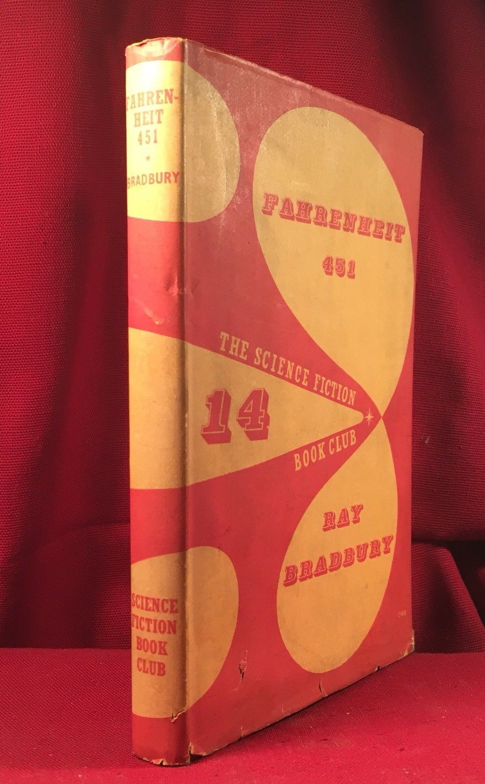 Ray Bradbury - Fahrenheit 451 - 1955 Sci Fi Book Club, early SIGNED COPY /DJ