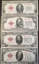 Fantasy Reproduction Set 1928 United States Notes $10 $20 $50 $100 Bills - $8.90
