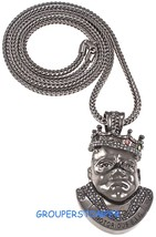 Notorious B.I.G. Necklace New Iced Out Pendant With 36 Inch Franco Style Chain - $40.07
