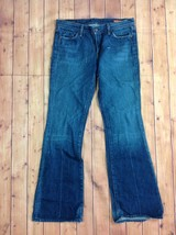 Citizens of Humanity Womens Low Waist Ingrid Flair Jeans Sz 30 L 33 Distressed - $42.95