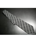 Gianni Versace Neck Tie Stripes in Black and Greys Silk Hand Made in Spain - $19.99