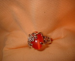 Flower ring orange small stone 6.5 or 8. side thumb155 crop