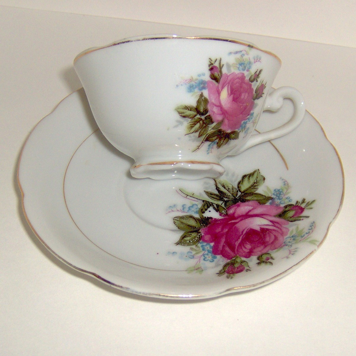 China Teacup and Saucer Set is Very Small & Delicate