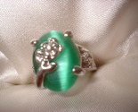 Flower green ring large stone thumb155 crop