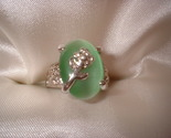 Flower light green ring large stone thumb155 crop
