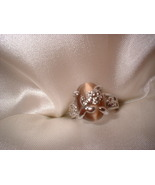 Brown Cats Eye Flower Ring Size 7  Bargain Bin Under $10.00 - $5.99