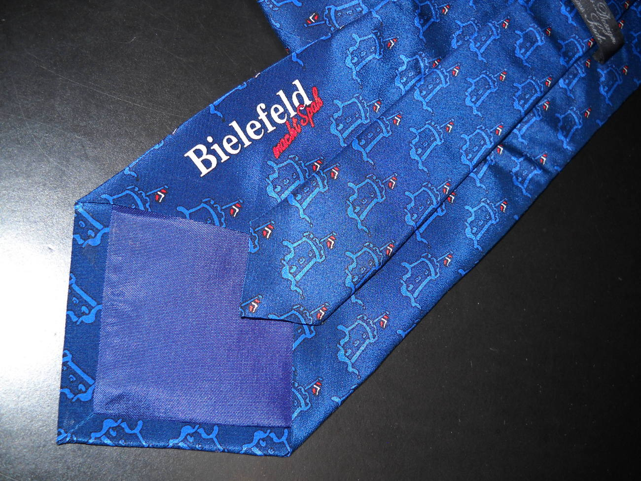 Bielefeld Germany Sparrenburg Castle Neck Tie Blues