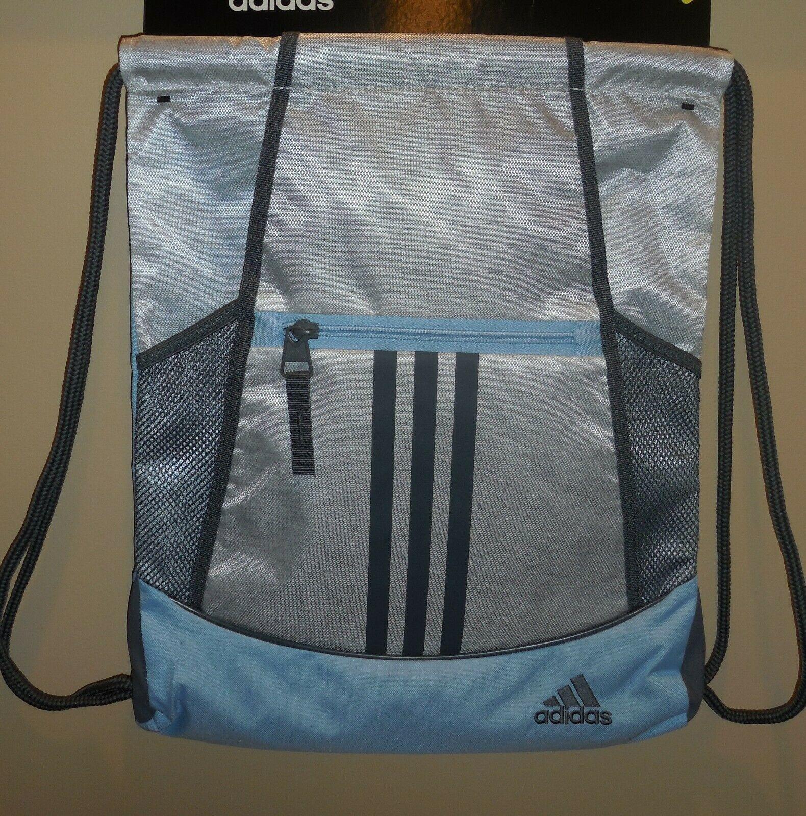Adidas Alliance II Sackpack Drawstring Bag Grey Pink Girls 5148519 New