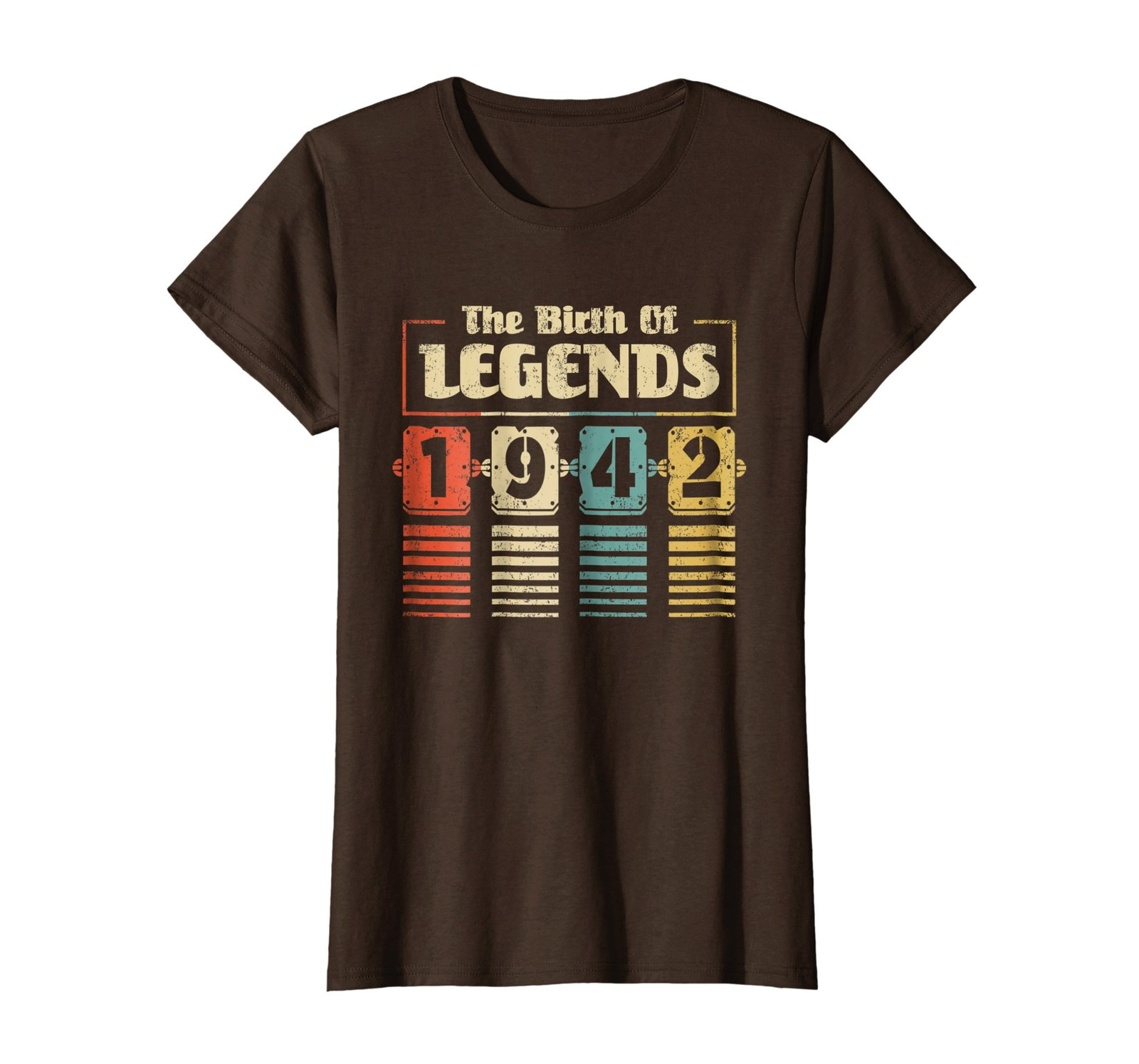 Funny Shirts - Retro The Birth Of Legend 1942 76th Birthday Gift 76 yrs old Wowe image 5