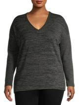 Terra & Sky Women's Plus V Neck Long Sleeve Thermal Top Size 3X (24-26W)... - $15.83