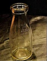 4 Antique Glass Milk Bottles AB 309 image 3