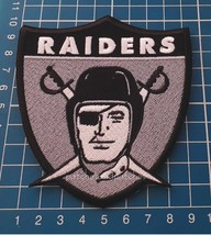 OAKLAND RAIDERS Team Logo Patch NFL Football USA Sports Jersey sew on em... - $14.99