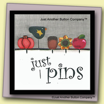 Autumn Just Pins JP102 set 5 for pincushions JABC Just Another Button Co - $13.05
