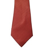 Nautica 100% Silk Red Handmade Geometric Dotted Print Men's Neck Tie - $19.79