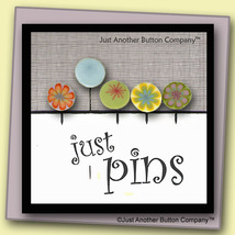 Mixed Lemonade Just Pins JP104m set 5 for pincushions JABC Just Another Button C - $13.05