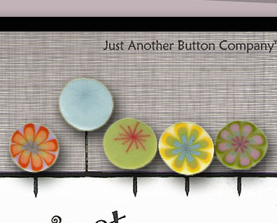 Mixed Lemonade Just Pins JP104m set 5 for pincushions JABC Just Another Button C