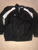 Adidas Team ~ Men's Black White 3-Striped Track Mesh Lined Jacket EUC ~ XL - $27.76