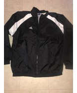 Adidas Team ~ Men's Black White 3-Striped Track Mesh Lined Jacket EUC ~ XL - $27.76