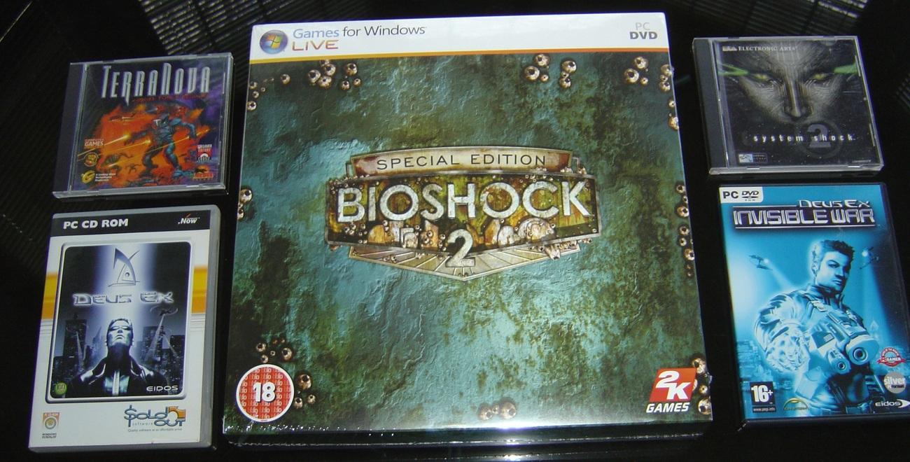 BIOSHOCK 2 COLLECTORS+SYSTEM SHOCK2+DEUS EX1+2+Thief123+TERR