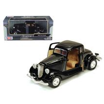 1934 Ford Coupe Black 1/24 Diecast Model Car by Motormax - $31.39