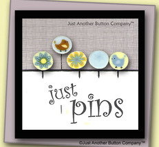 Yellow Lemonade Just Pins JP104y set 5 for pincushions JABC Just Another Button - $13.05