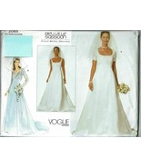 Vogue Sewing Pattern 2085 Bridal Bridal Gown Bellville Sassoon Size 6 8 10 - $17.99