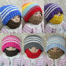New Knit Crochet Infant Baby Child Kids Viking Full Beard Hat Cap Beani 0-5 Year