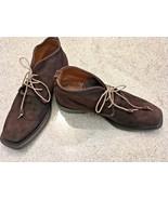 Men's Bettanin V Venturi Handmade Brown Calf Suede Ankle Boots (US-10M) - $420.75