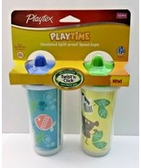 Playtex Playtime Twist n Click 2pk Baby Toddler Insulated Spout Sippy Cu... - $17.79