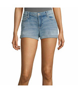 Arizona Women's Juniors Denim Shortie Shorts Size 19 Medium Festive Color - $23.75