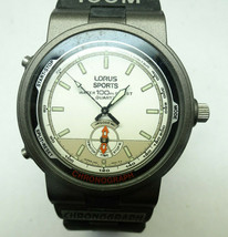 VTG LORUS SPORTS 100 CHRONOGRAPH DANCING HANDS WATCH WITH ORIG BAND TO R... - $87.32