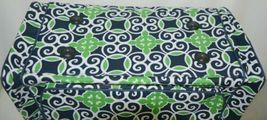 NGIL THQ423NAVY Sailor Print Canvas Duffle Bag Colors Navy Green and White image 3