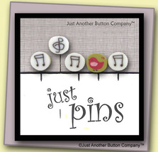 Musical Just Pins JP106 set 5 for pincushions JABC Just Another Button Co - $13.05