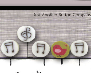 Musical Just Pins JP106 set 5 for pincushions JABC Just Another Button Co