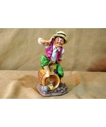 "Lefton Man Sitting On Wine Barrel Hand Painted Bisque Porcelain Figurine 6"" - $5.03"