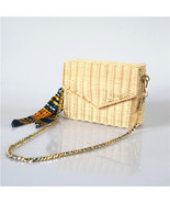 New Style Craft Paper String Beach HandbagHANDWOVEN, Tote Bag Straw Hand... - $45.66+