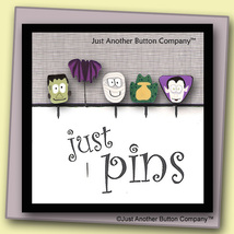 Monster Mash Just Pins JP108 set 5 for pincushions JABC Just Another Button - $13.05