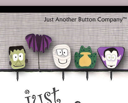 Monster Mash Just Pins JP108 set 5 for pincushions JABC Just Another Button