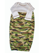 Preemie and Newborn Baby Boys Camoflauge Hunting Gown  - $20.00