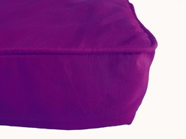Purple Box Cushion Cover Solid Polyester With Piping & Zipper - $9.90+