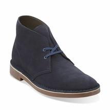 Clarks Originals Bushacre Men's Navy Blue Suede Desert Boots 26106782 - $130.00