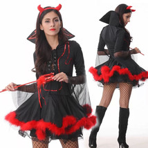 Little Devil Costume Sexy Woman Halloween Christmas Party Dress - $40.09