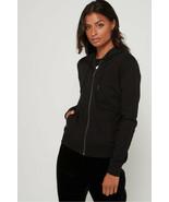 A|X Armani Exchange Women's Zip Up Hooded Sweatshirt, Black , L - $59.39