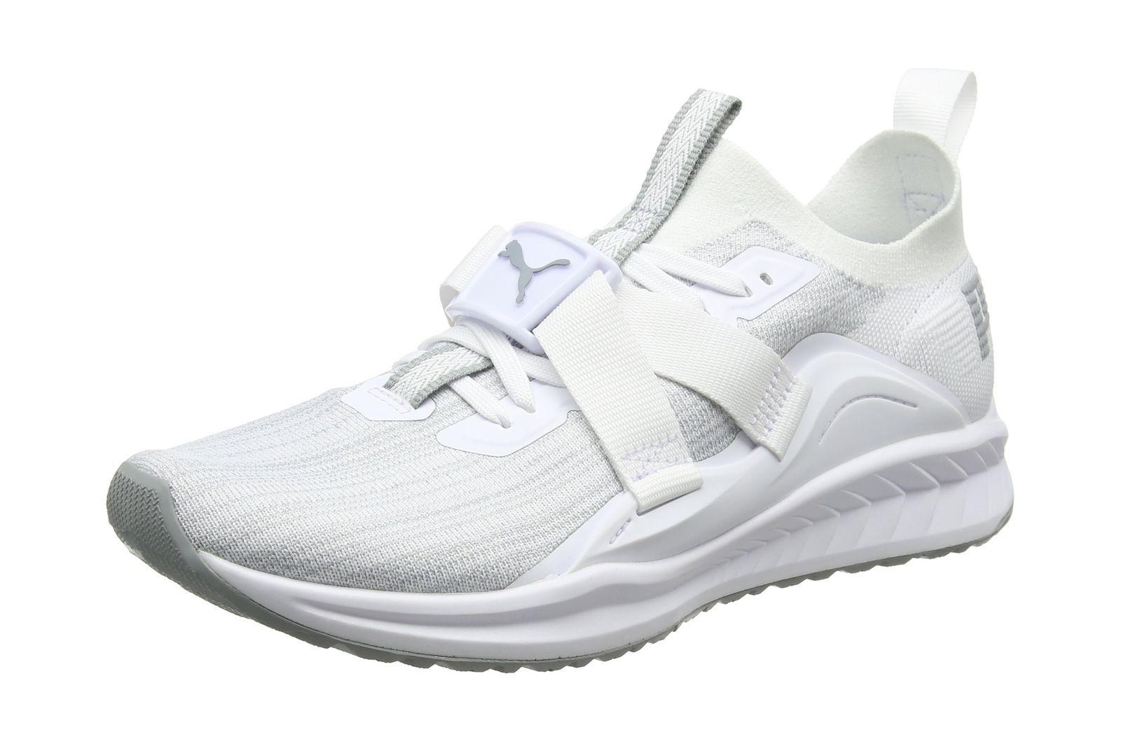 Mens Ignite Evoknit Lo 2 Cross Trainers, White/Grey Puma
