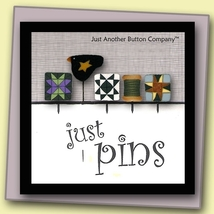 Around The Block Just Pins JP111 set 5 for pincushions JABC Just Another Button - $13.05