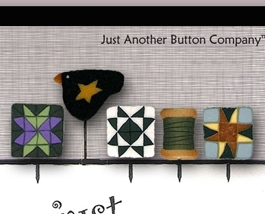 Around The Block Just Pins JP111 set 5 for pincushions JABC Just Another Button