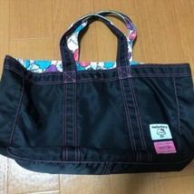 Poter Hello Kitty Atmos Triple Collaboration Tote Bag Nylon Black Used Rare - $96.99